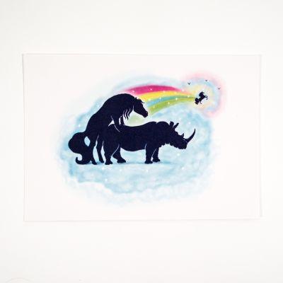 Cartes - Carte de vœux Rhino-corne
