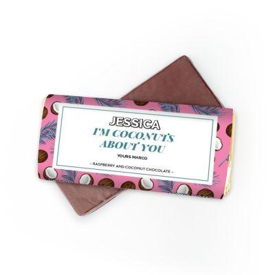 Cadeau anniversaire de mariage - Chocolat avec 4 lignes