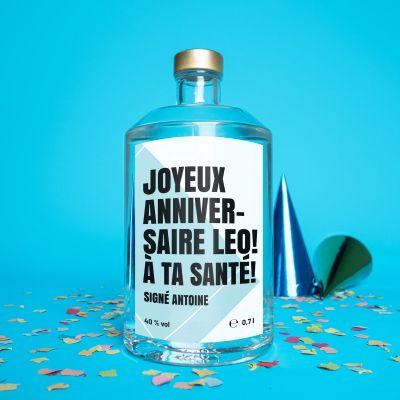 Cadeau anniversaire - Vodka personnalisable avec texte