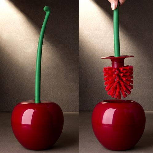 Idée cadeau - Brosse WC - Cerise