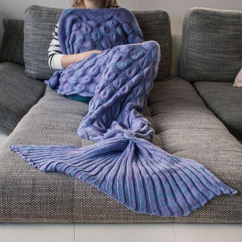 Idée cadeau - Plaid Sirène