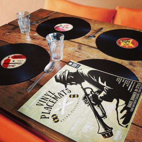 Cadeau anniversaire - Sets de table Vinyle – lot de 4